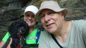 Bonnie hiking with Susan and Charles. Photo by Charles Oropallo 5/29/16.